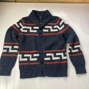 Gap Kids Blue Cardigan Sweater Wool Blend 10